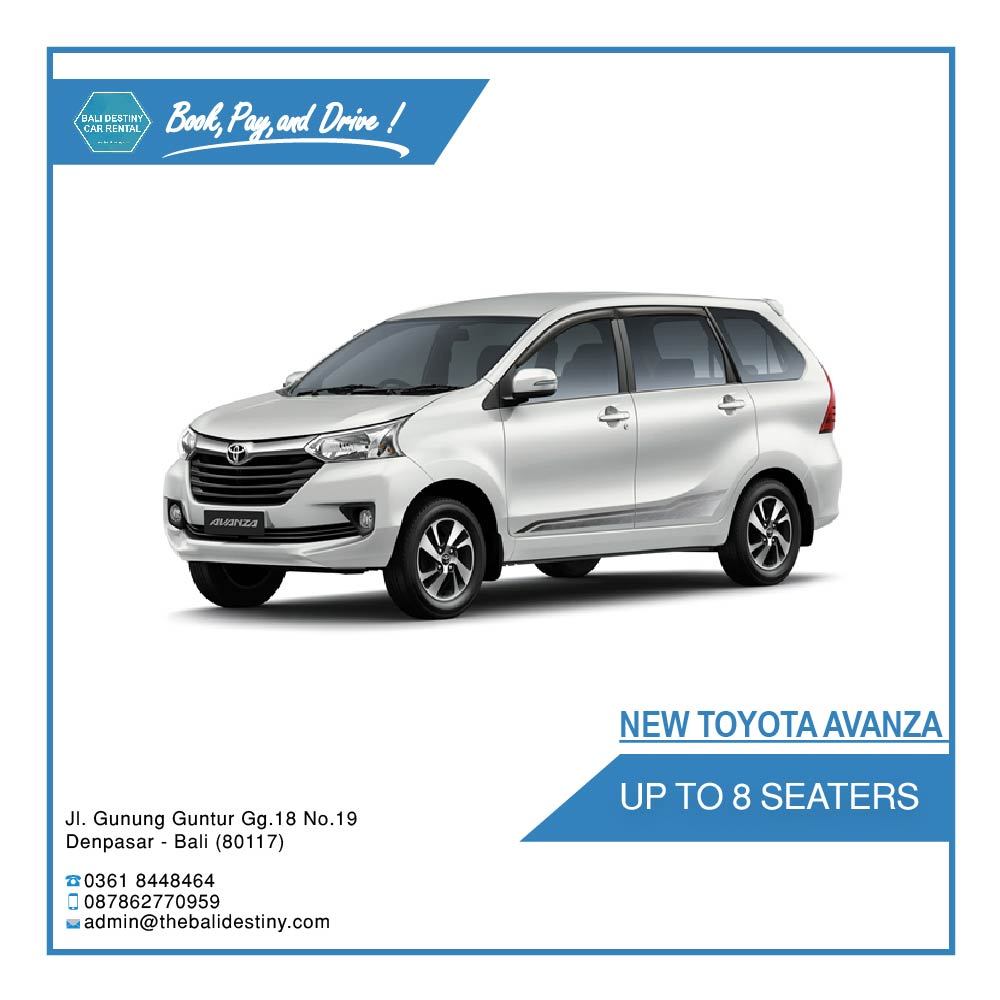 toyota new avanza bali destiny travel