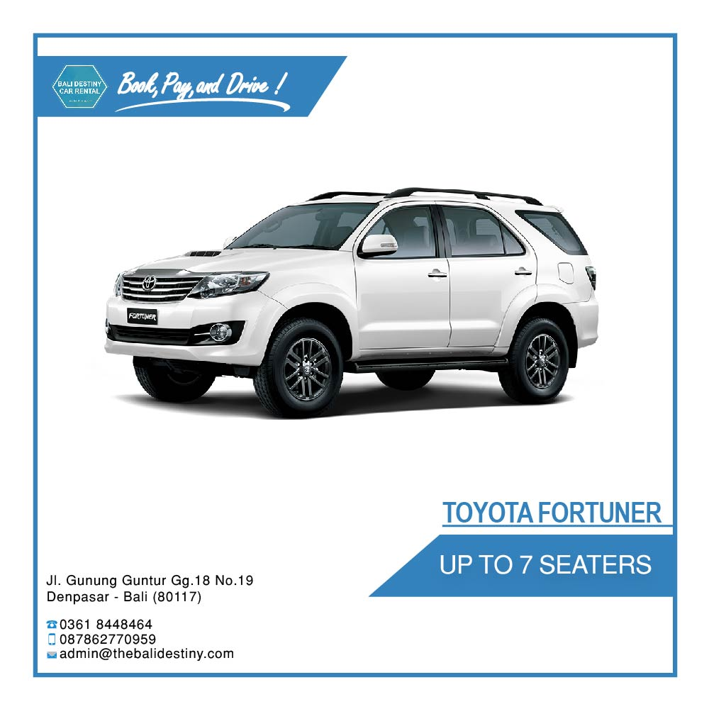 Toyota Fortuner Bali Destiny Travel